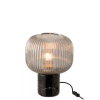 Stijlvolle Tafellamp Yufo met Grijs Glas – Marmer voet
