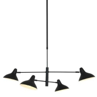 Stoere Hanglamp Kasket in Mat Zwart Metaal